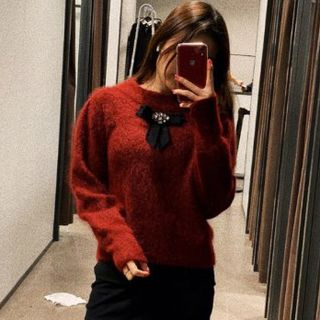 Image of Bow Accent Sweater
