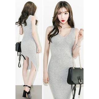 Sleeveless Ribbed Knit Dress 1059405272