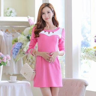 Cutout Long-Sleeve Dress 1047347025