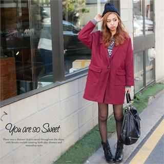 Dual Pocket One Button Coat
