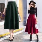 Tie-Waist A-Line Plain Maxi Dress 1596