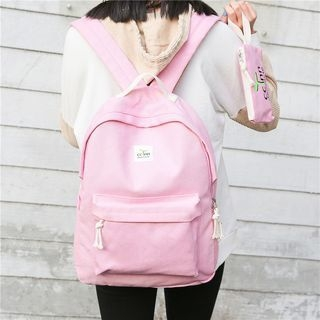 Canvas Backpack with Print Pouch