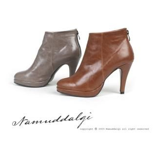 Picture of NamuDDalgi Zip Back Ankle Boots 1021489865 (Boots, NamuDDalgi Shoes, Korea Shoes, Womens Shoes, Womens Boots)