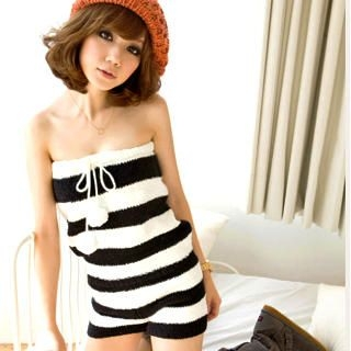 Buy I'Miusa Striped Strapless Playsuit 1021785061