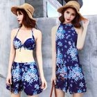 Set: Patterned Swim Top + Swim Shorts + Bikini 1596