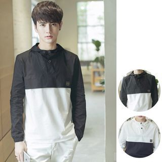 Color-Block Hooded Sweatshirt 1050120061