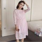 Maternity Long Sleeve Lace Dress 1596