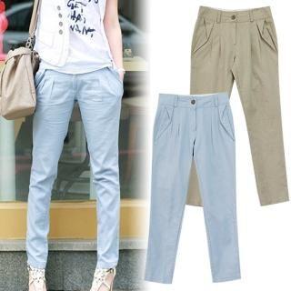 Buy MOUL STYLE Drop-Crotch Linen Pants 1022593122