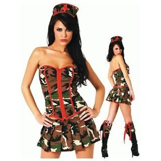 Camouflage Army Party Costume 1046264788