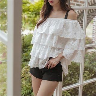 Fray-Hem Cotton Shorts 1060284579