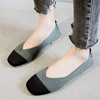 Image of Color Block Knit Flats