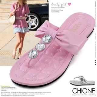 Buy Chione Bejeweled Thong Sandals 1022781424