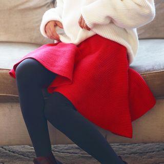 Rib Knit A-Line Skirt 1054294958