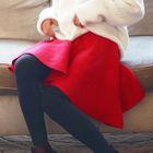 Rib Knit A-Line Skirt 1596