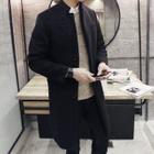 Stand Collar Long Coat 1596