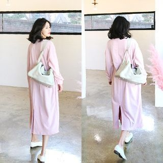 Maternity Slit-Back Maxi Dress 1057916545
