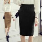 Ribbed Pencil Skirt 1596