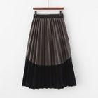 Two Tone Accordion Pleat Skirt 1596