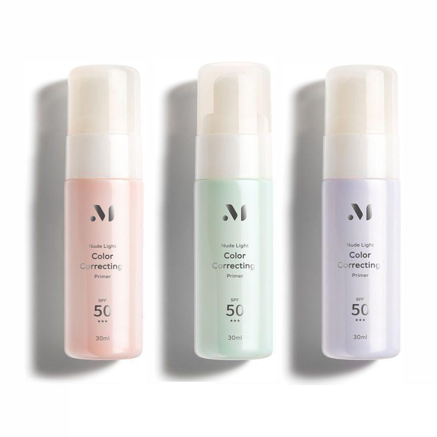 MEKO - Nude Light Color Correcting Primer SPF 50 PA+++ 30ml - 3 Types