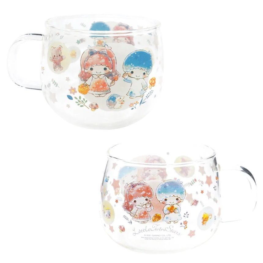 Little Twin Stars Glass Cup 1 pc