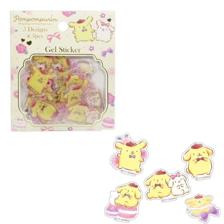 Pompom Purin Gel Stickers 1 pc