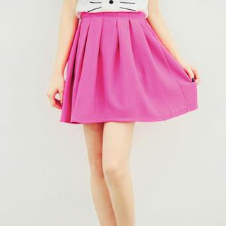 Perforated Pleated Skirt