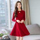 Long-Sleeve Mini A-Line Dress 1596