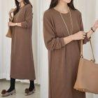Ribbed Long Pullover Dress 1596