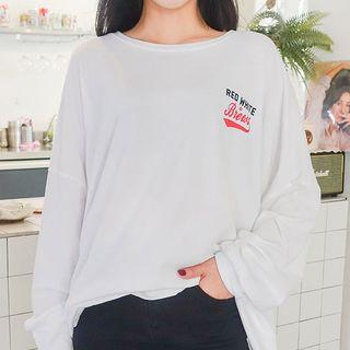 Printed Oversized Sweatshirt 1069059527
