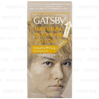 Mandom - Gatsby Natural Bleach & Color (Champagne Ash) 1 set 1057941306