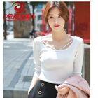 Plain Elbow-Sleeve Knit Top / Plain Long-Sleeve Knit Top 1596