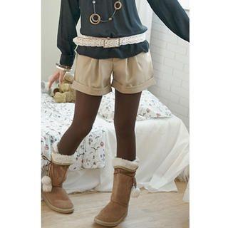 Rhinestone Cuffed Shorts