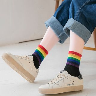 Set of 4: Striped Socks 1068074751