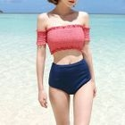 Set: Short-Sleeve Swim Top + Swim Shorts 1596