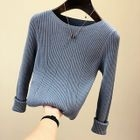 Rib Knit Pullover 1596
