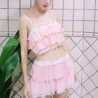 Set: Ruffled Bikini Top + Swim Skirt 1596