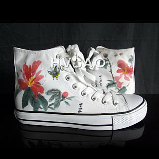 """Flower"""" High-Top Canvas Sneakers"""