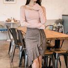 Set: Off-Shoulder Top + Ruffled Skirt 1596