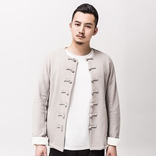 Chinese-Style Frog-Button Light Jacket