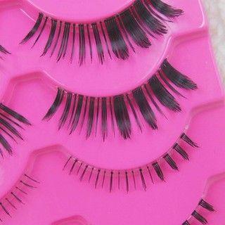 Set: 3 Pairs Upper False Eyelashes + 2 Pairs Lower False Eyelashes 5 pairs 1045871141