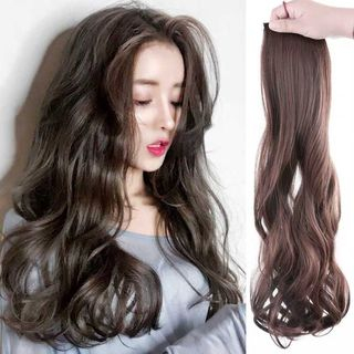 Set of 3 Pieces: Clip-On Hair Extension - Wavy / Straight