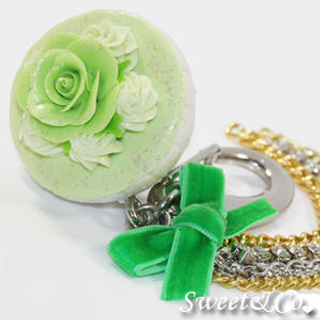 Sweet Glitter Green Cupcake XL Bag Charm