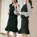 Set: Long-Sleeve Panel Top + Ruffle Skirt 1596