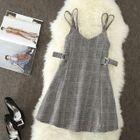 Plaid Mini Pinafore Dress 1596