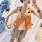 Set: Plain Bikini + Top + Shorts 1596