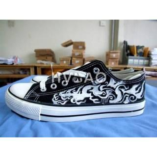 Totemic Dragon Canvas Sneakers