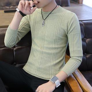 Long-Sleeve Rib Knit Top 1068884345