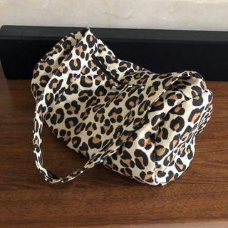 Leopard Print Canvas Crossbody Bag / Tote Bag / Shoulder Bag