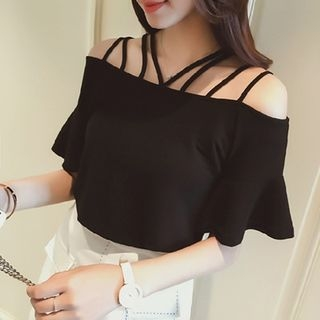 Off Shoulder Short-Sleeve Top 1068816441