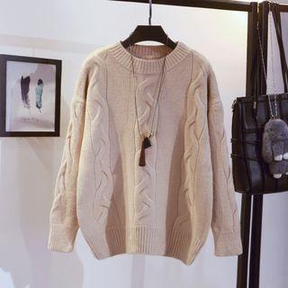 Ribbed Long-Sleeve Knit Top 1064694331
